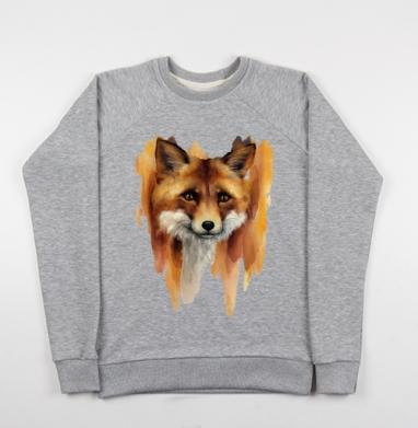Рыжая лиса  - Купить детские свитшоты с животными в Москве, цена детских свитшотов с животными  с прикольными принтами - магазин дизайнерской одежды MaryJane