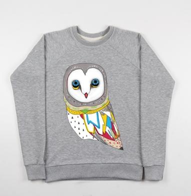 Сова - Купить детские свитшоты серые в Москве, цена детских свитшотов серых с прикольными принтами - магазин дизайнерской одежды MaryJane