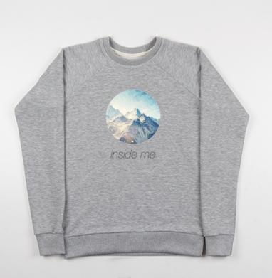 Внутри меня - Купить детские свитшоты с горами в Москве, цена детских свитшотов с горами с прикольными принтами - магазин дизайнерской одежды MaryJane