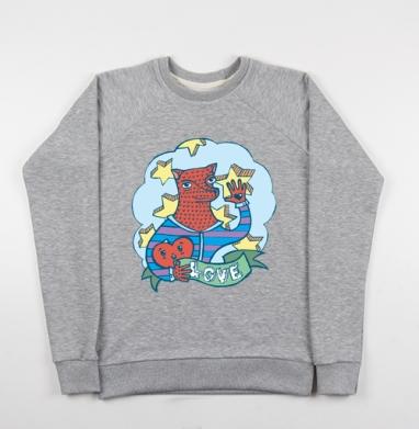 Волчик - Купить детские свитшоты с волками в Москве, цена детских свитшотов с волками  с прикольными принтами - магазин дизайнерской одежды MaryJane