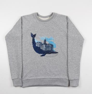 Whale city - Купить детские свитшоты с городами в Москве, цена детских свитшотов с городами  с прикольными принтами - магазин дизайнерской одежды MaryJane