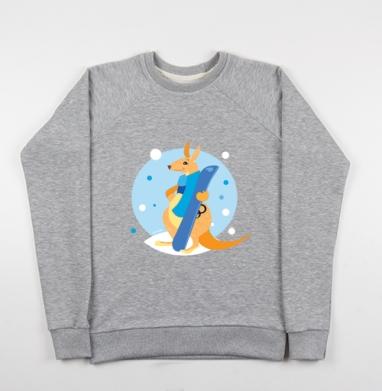 Я люблю сноуборд - Купить детские свитшоты спортивные в Москве, цена детских свитшотов спортивных  с прикольными принтами - магазин дизайнерской одежды MaryJane