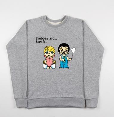 Футболки Love is...№3 - Купить детские свитшоты ретро в Москве, цена детских свитшотов ретро  с прикольными принтами - магазин дизайнерской одежды MaryJane