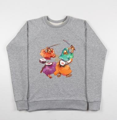 Лосось vs Тунец - Купить детские свитшоты с живописью в Москве, цена детских свитшотов с живописью  с прикольными принтами - магазин дизайнерской одежды MaryJane