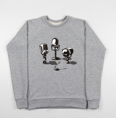 Microphones - Купить детские свитшоты ретро в Москве, цена детских свитшотов ретро  с прикольными принтами - магазин дизайнерской одежды MaryJane