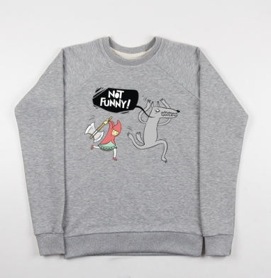 Not funny  - Купить детские свитшоты с волками в Москве, цена детских свитшотов с волками  с прикольными принтами - магазин дизайнерской одежды MaryJane