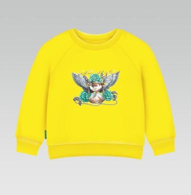 Полет времени, Cвитшот Детский желтый 240гр, тонкая