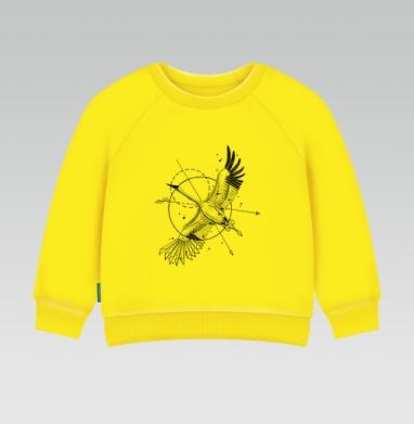 Cвитшот Детский желтый 240гр, тонкая - Стерх