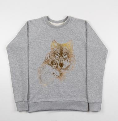 Супруги - Купить детские свитшоты с волками в Москве, цена детских свитшотов с волками  с прикольными принтами - магазин дизайнерской одежды MaryJane