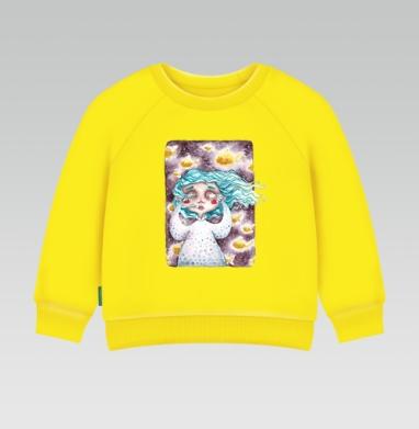 В моем сне плавали золотые рыбы, Cвитшот Детский желтый 240гр, тонкая