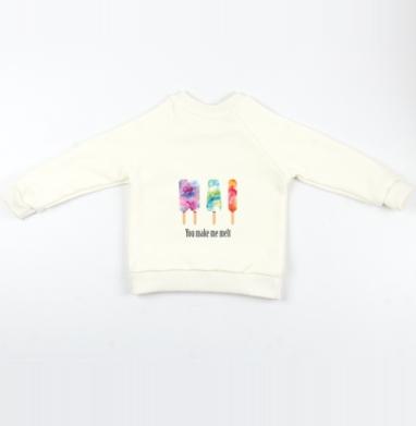 Cвитшот Детский Экрю 320гр, стандарт - Фруктовый лёд