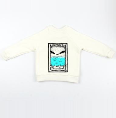 Катейка с рыбками - Cвитшот Детский Экрю 320гр, стандарт, Популярные