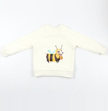 Cвитшот Детский Экрю 320гр, стандарт - Пчелопёс
