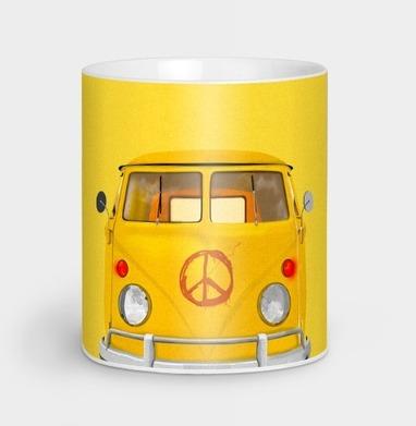 Хиппи Автобус - иллюстация, Новинки