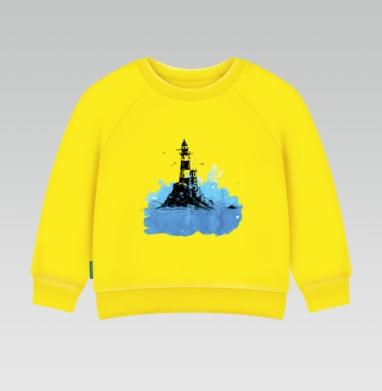 Маяк - Cвитшот Детский желтый 240гр, тонкая, Популярные