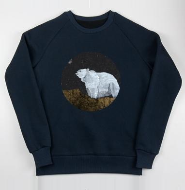 Свитшот мужской тем.-синий 320гр, стандарт, тёмно-синий - Интернет магазин футболок №1 в Москве