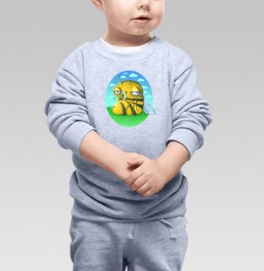 Пчела с ромашкой - Купить детские свитшоты с природой в Москве, цена детских свитшотов с природой  с прикольными принтами - магазин дизайнерской одежды MaryJane