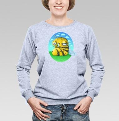 Пчела с ромашкой - Купить женские свитшоты с природой в Москве, цена женских свитшотов с природой  с прикольными принтами - магазин дизайнерской одежды MaryJane