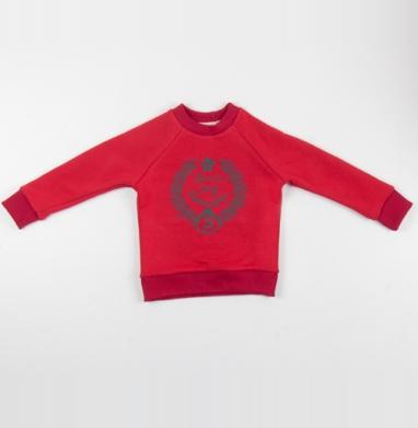Cвитшот Детский красный 340гр, теплый - Футболки fred perry - riche et beau