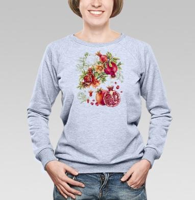 Гранат. Ботаническая акварель - Купить детские свитшоты с фруктами в Москве, цена детских свитшотов с фруктами  с прикольными принтами - магазин дизайнерской одежды MaryJane