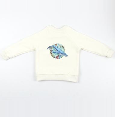 Кит под водой - Cвитшот Детский Экрю 320гр, стандарт, Популярные