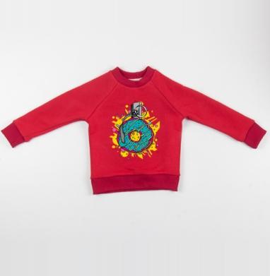 Взрывной пончик - Cвитшот Детский красный 340гр, теплый, Популярные