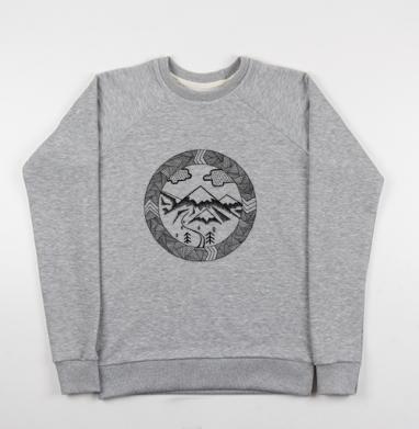 ГОРНЫЙ - Купить мужские свитшоты с горами в Москве, цена мужских свитшотов с горами с прикольными принтами - магазин дизайнерской одежды MaryJane