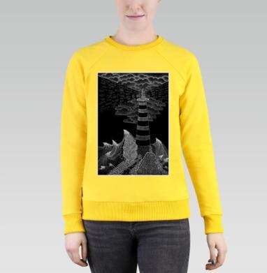 Маяк бури, Cвитшот женский, желтый 240гр, тонкий