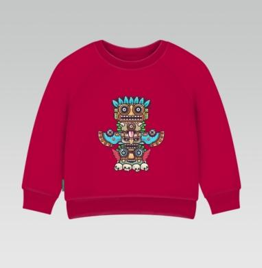 Cвитшот Детский темно-красный 340гр, теплый - Тотемы