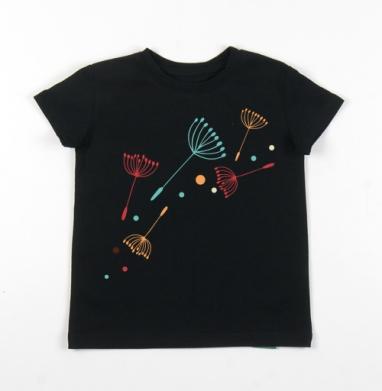 Детская футболка черная хлопок с лайкрой 140гр - Легко