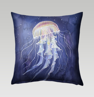 Медуза батик - Подушки с принтом