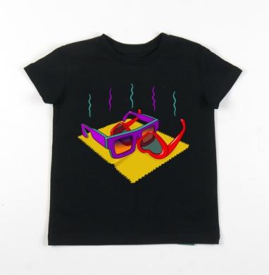 Детская футболка черная хлопок с лайкрой 140гр - All Ladies Do It