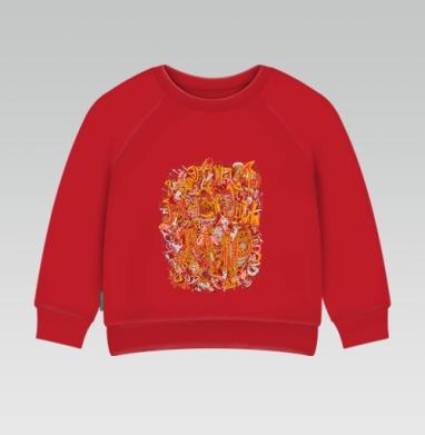 Cвитшот Детский ярко-красный 240гр, тонкий - «Мясной мир»