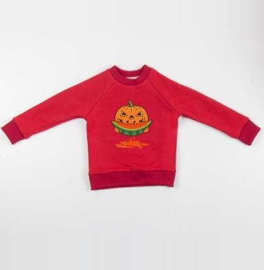 Cвитшот Детский красный 340гр, теплый - НА ДЕСЕРТ