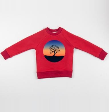 Cвитшот Детский красный 340гр, теплый - Наедине с собой