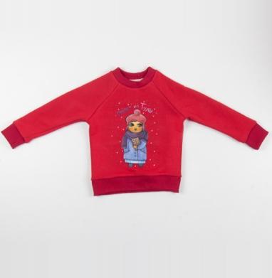 Привет из Тулы - Cвитшот Детский красный 340гр, теплый, Популярные