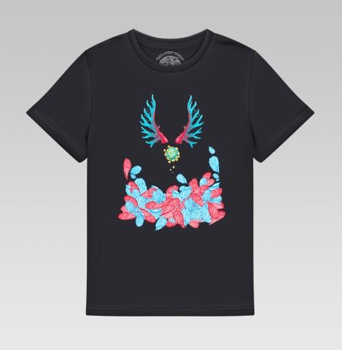 Футболка —  Синие и красные крылышки от KataMk   maryjane.ru - дизайнерские футболки