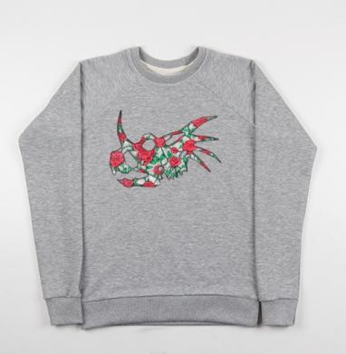 Винтажный трицератопс - Купить мужские свитшоты с роами в Москве, цена мужских свитшотов с розой с прикольными принтами - магазин дизайнерской одежды MaryJane