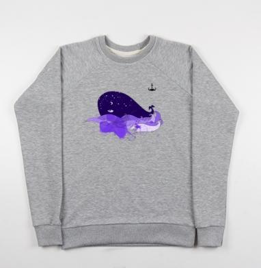 Звездный кит - Купить мужские свитшоты морские  в Москве, цена мужских свитшотов морских   с прикольными принтами - магазин дизайнерской одежды MaryJane