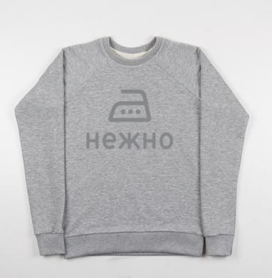 Гладить нежно - Купить мужские свитшоты серые в Москве, цена мужских свитшотов серых с прикольными принтами - магазин дизайнерской одежды MaryJane
