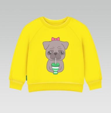 Cвитшот Детский желтый 240гр, тонкая - Бонни