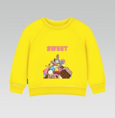 Cвитшот Детский желтый 240гр, тонкая - Гора сладостей