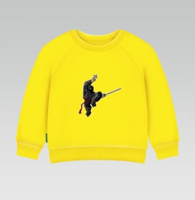 Cвитшот Детский желтый 240гр, тонкая - NINJA