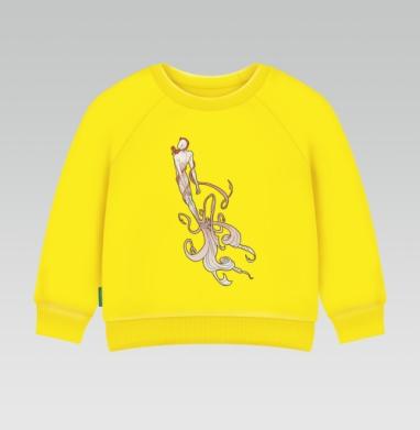 Поток идей, Cвитшот Детский желтый 240гр, тонкая