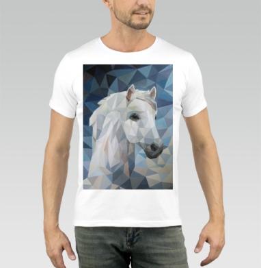 Белая_Лошадь - Футболка мужская белая 180гр