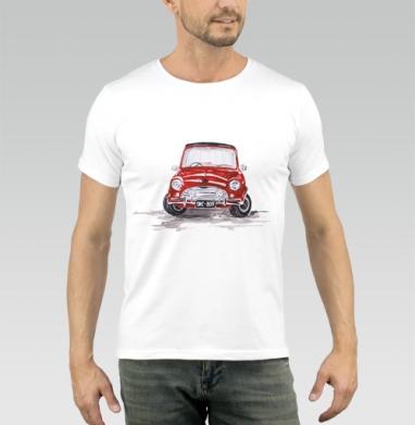 Красная машинка - Купить мужские футболки с акварелью в Москве, цена мужских футболок с акварелью  с прикольными принтами - магазин дизайнерской одежды MaryJane