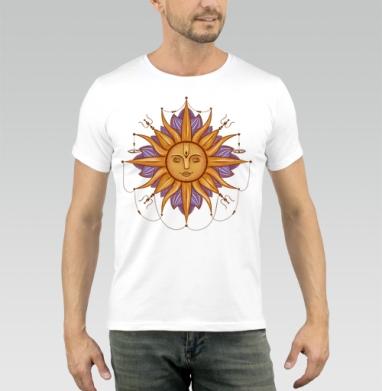 Солнце Сурья - Купить мужские футболки с символами в Москве, цена мужских футболок с символом с прикольными принтами - магазин дизайнерской одежды MaryJane