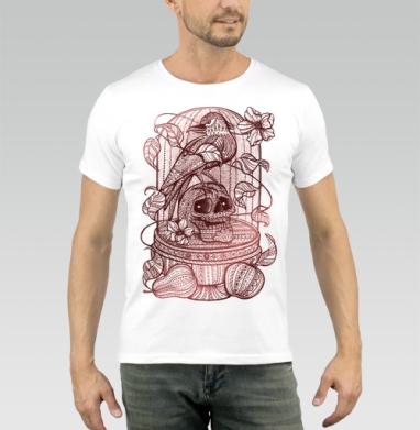 Ворон в хрустальной клетке - Купить мужские футболки с фруктами в Москве, цена мужских футболок с фруктами  с прикольными принтами - магазин дизайнерской одежды MaryJane