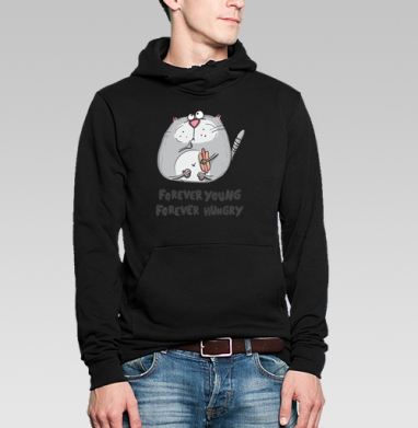 Russian Student - forever young - forever hungry, Толстовка Муж. 320гр, стандарт
