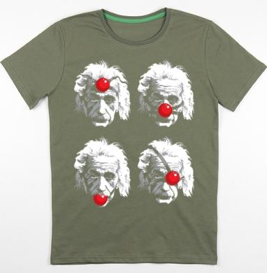Футболка мужская хаки 180гр - Einstein Эйнштейн